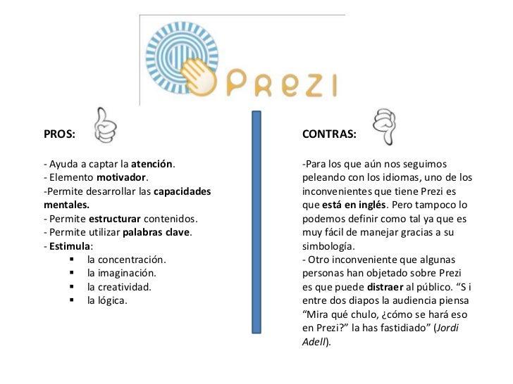 Pros y contras prezi for Hormigon impreso pros y contras