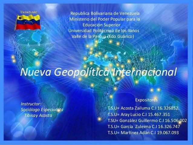 Republica Bolivariana de Venezuela Ministerio del Poder Popular para la Educación Superior Universidad Politécnica de los ...