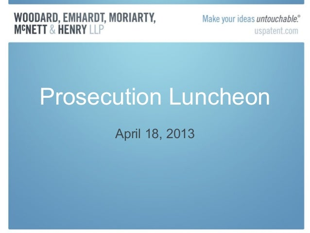 Prosecution LuncheonApril 18, 2013