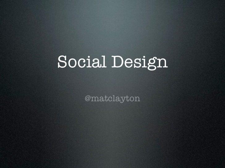 Social Design - ProSEO
