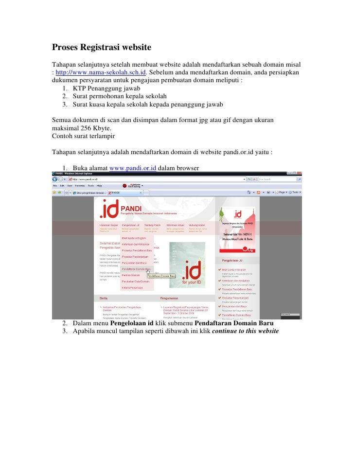 Proses registrasi website