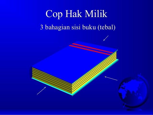 Cop Hak Milik 3 bahagian sisi buku (tebal)