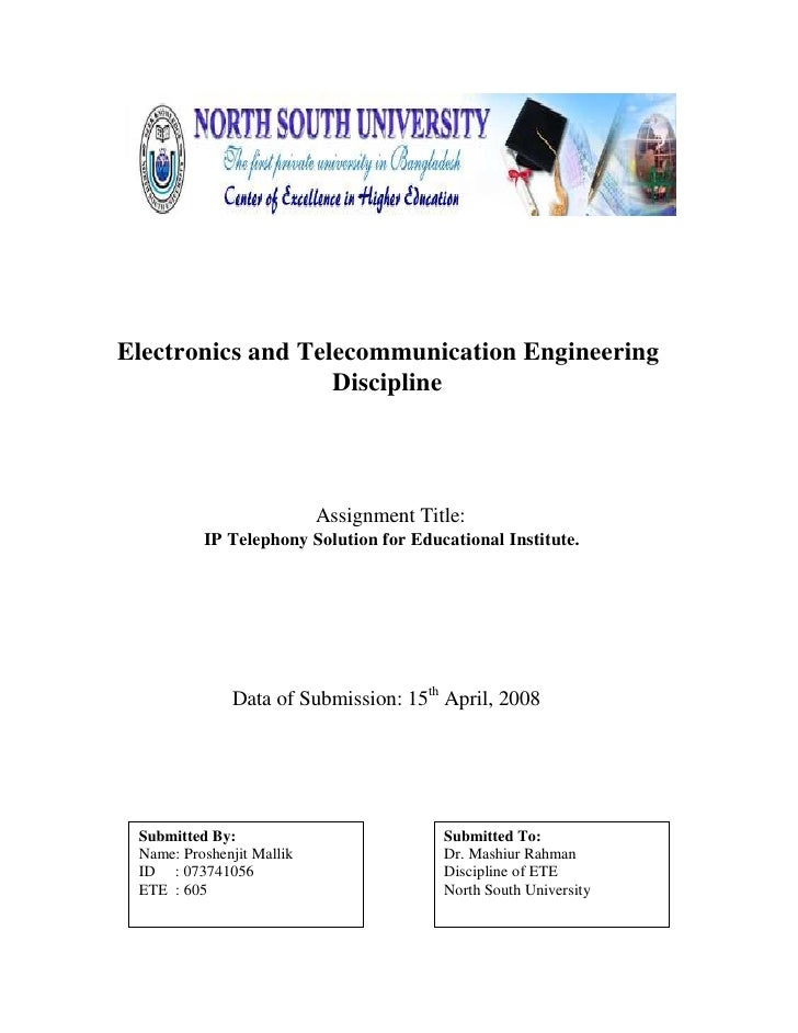 Electronics and Telecommunication Engineering                    Discipline                                Assignment Titl...