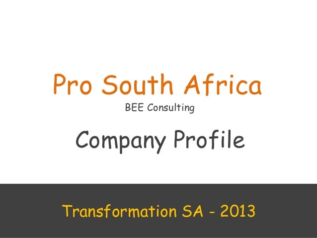 Pro south african  profile