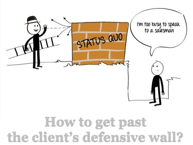 How to get pastthe client's defensive wall?
