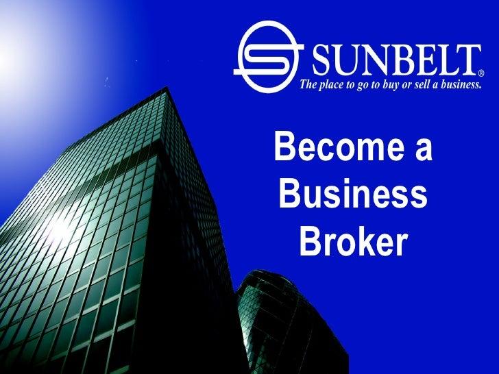 Become a Business Broker