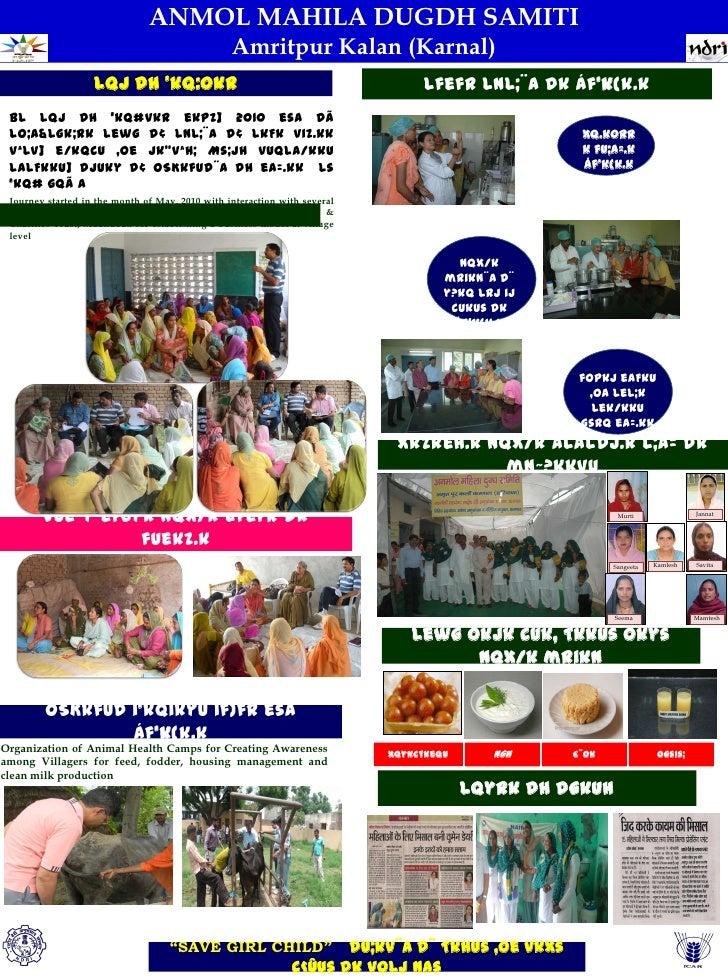 ANMOL MAHILA DUGDH SAMITI                                                 Amritpur Kalan (Karnal)                   lQj dh...