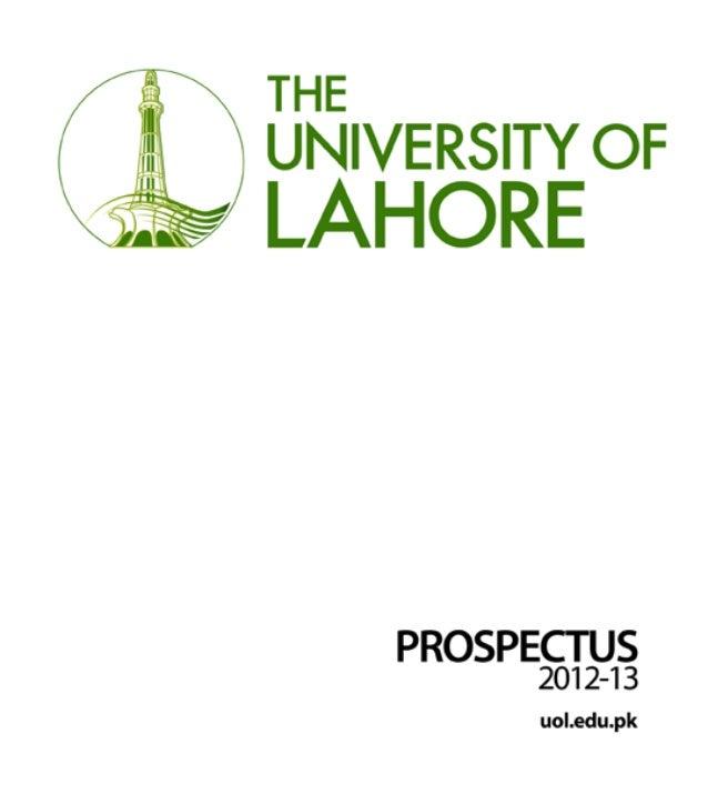 Prospectus University of lahore 2012-13