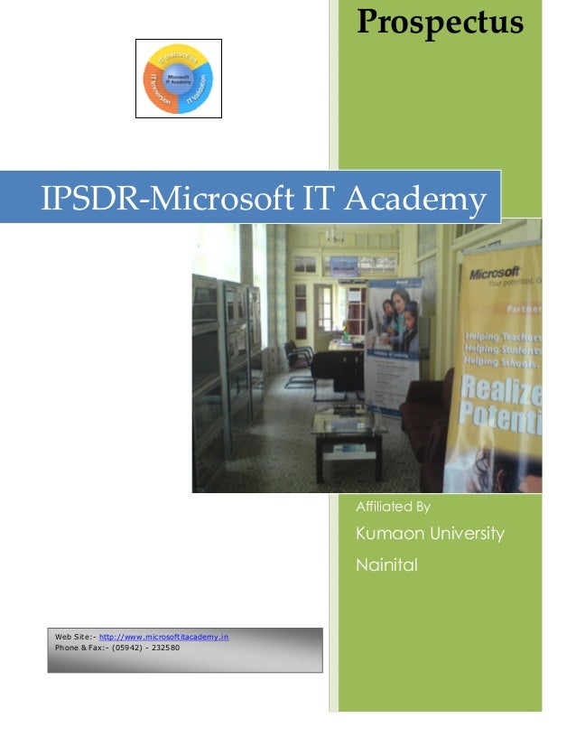 ProspectusIPSDR-Microsoft IT Academy                                              Affiliated By                           ...