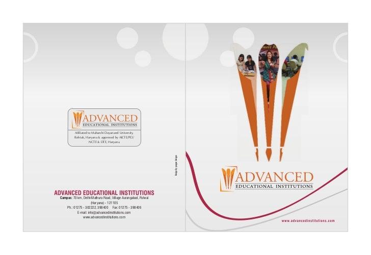 Prospectus Advanced Educational Institutions