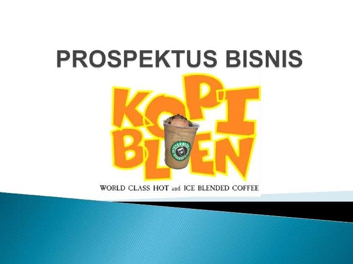 PROSPEKTUS BISNIS<br />