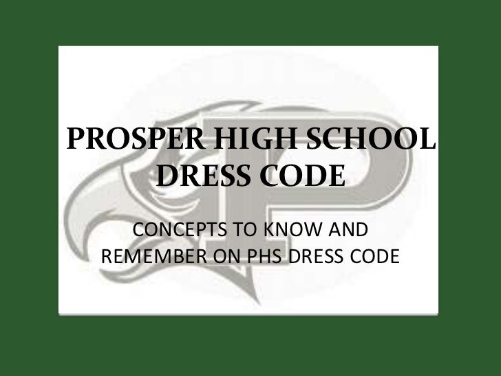 PHS Dress Code Revised