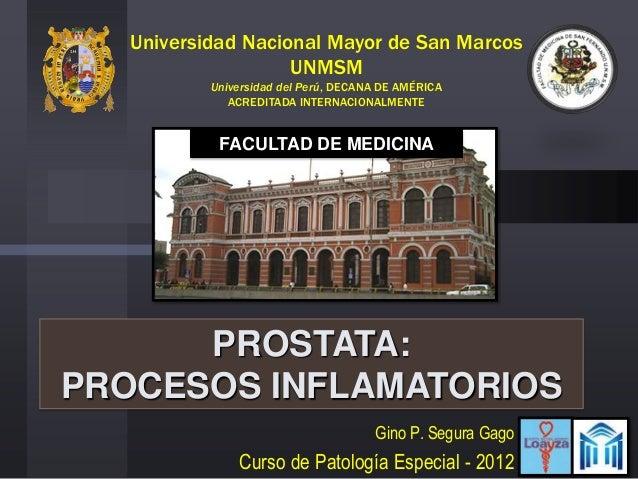PATOLOGIAS DE LA PROSTATA - PROSTATITIS