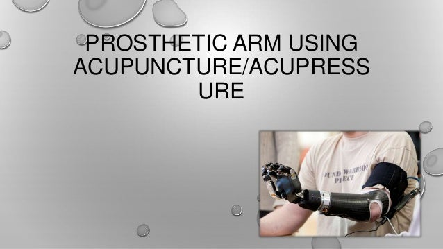 Prosthetic limb using acupuncture