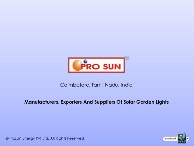 Garden Solar Lights in India, Coimbatore