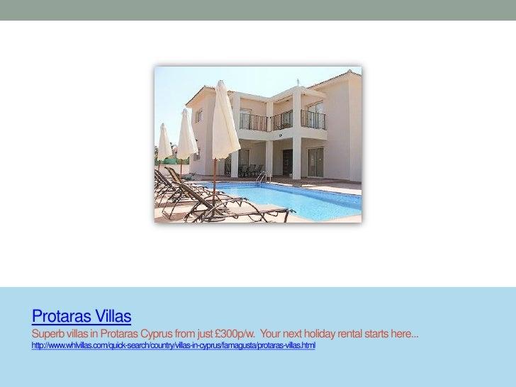 Protaras VillasSuperb villas in Protaras Cyprus from just £300p/w. Your next holiday rental starts here...http://www.whlvi...