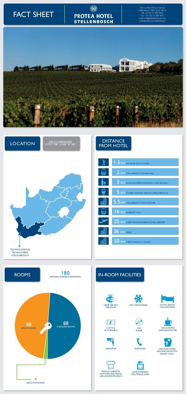 Protea Hotel Stellenbosch Fact Sheet