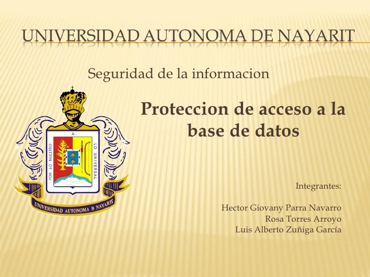 <ul><li>Seguridad de la informacion </li></ul><ul><li>Integrantes: </li></ul><ul><li>Hector Giovany Parra Navarro </li></u...