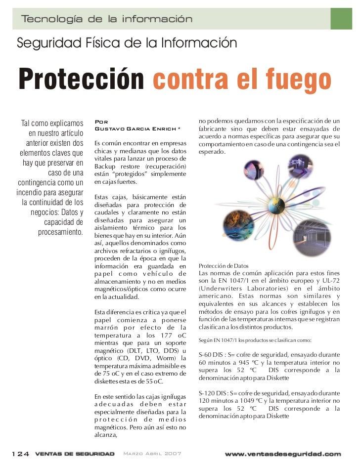 Proteccion contra el fuego