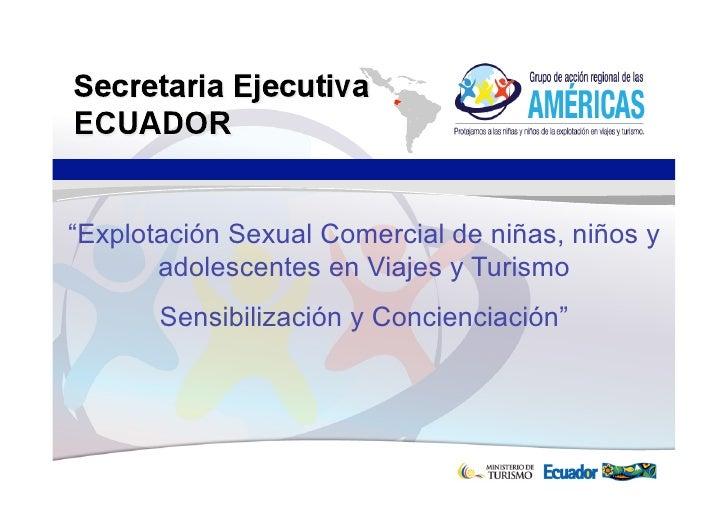Ponencia Congreso Turismo: Protección de la niñez y la adolescencia