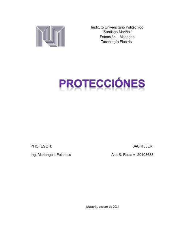 """PROFESOR: BACHILLER: Ing. Mariangela Pollonais Ana S. Rojas v- 20403688 Instituto Universitario Politécnico """"Santiago Mari..."""