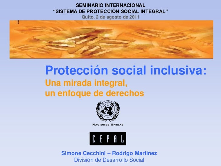 Proteccion social inclusiva Ecuador mies b 08-2011 rmc
