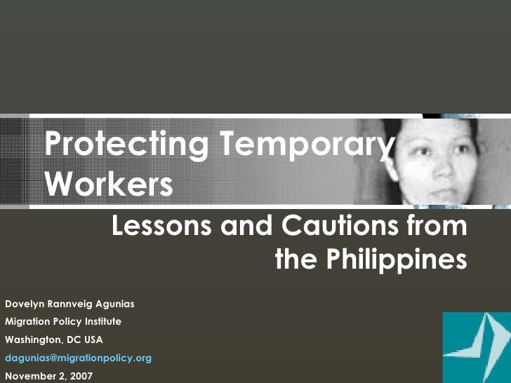 Protecting Temporary Workers, Dovelyn Agunias