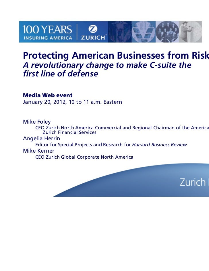 Protecting American Businesses from Risk - Zurich North America