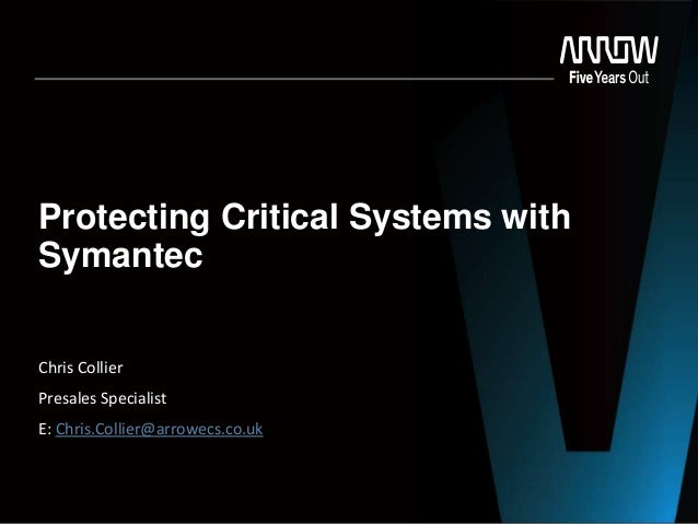 Protecting Critical Systems with Symantec