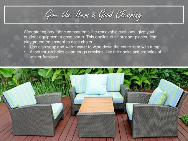 Protecting Outdoor Furniture And Equipment During Harsh