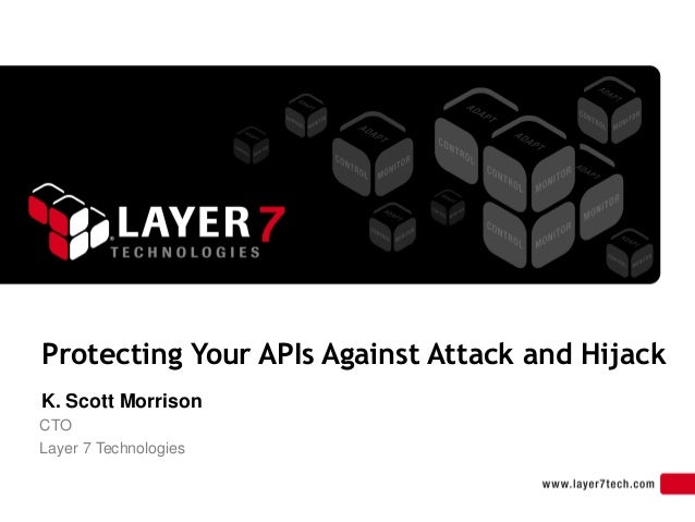 Protecting Your APIs Against Attack and HijackK. Scott MorrisonCTOLayer 7 Technologies