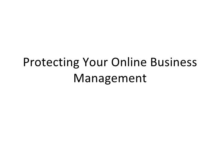 Protecting your online business management