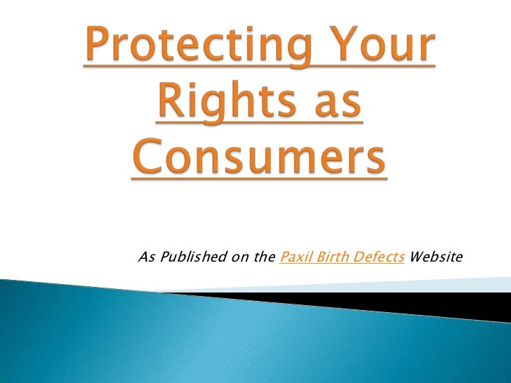 Protecting your rights as consumers