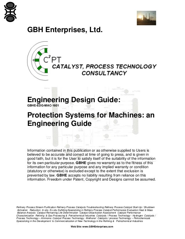 Protection Systems for Machines: an Engineering Guide