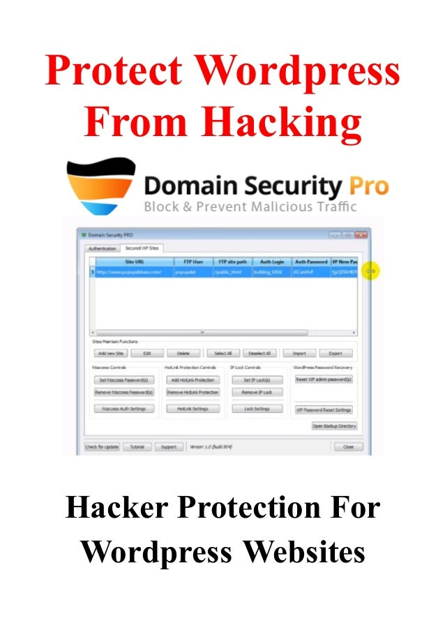 Protect Wordpress From Hacking - Hacker Protection For Wordpress Websites 2013