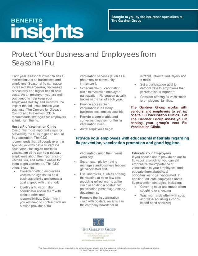 Protect Your Business and Employees from Seasonal Flu