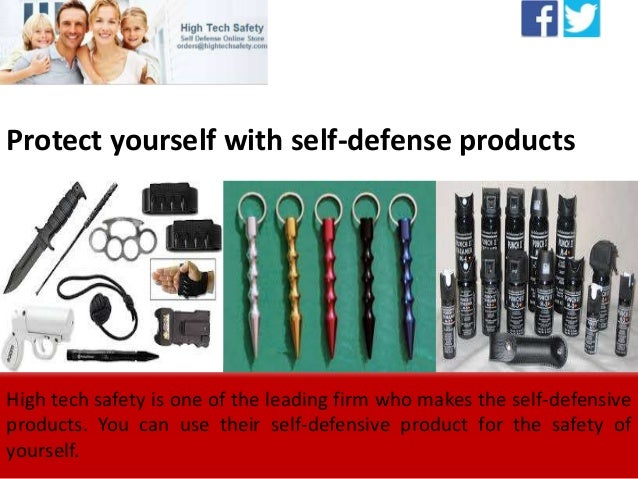 Protect yourself with self-defense products