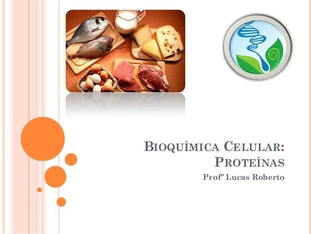 BIOQUÍMICA CELULAR: PROTEÍNAS Profº Lucas Roberto