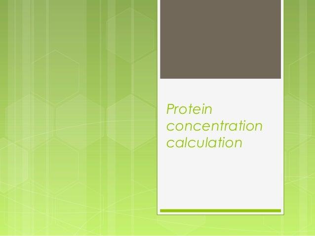 Proteinconcentrationcalculation