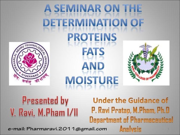 Proteins,Fats determination