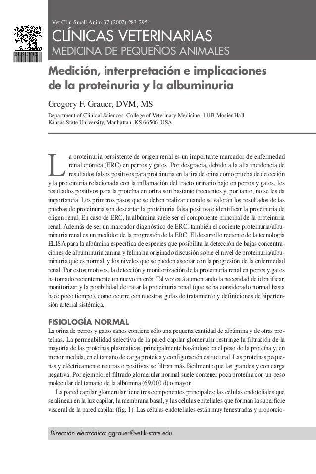 Proteinuria y albuminuria