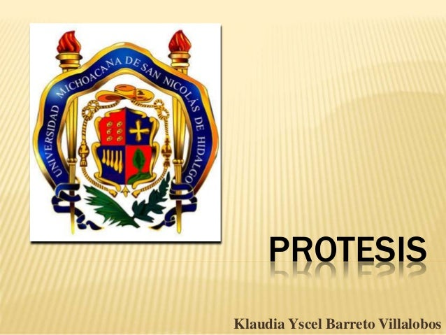 PROTESIS Klaudia Yscel Barreto Villalobos