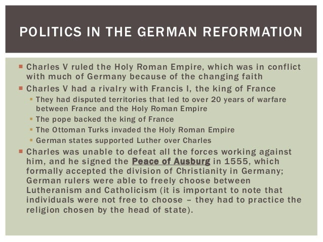 How did the reformation lead to political conflict and warfare?