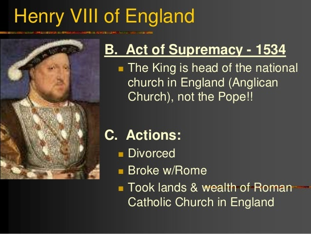 a description of king henry viii breaks with the catholic church and converts to protestantism (1491-1547) king of england from 1509 to 1547 his desire to annul his marriage led to a conflict with the pope, england's break with the roman catholic church, and its embrace of protestantism henry established the church of england in 1532.