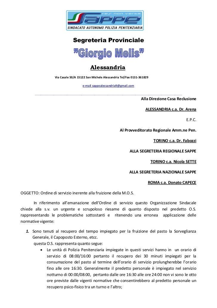 Segreteria Provinciale                                              Alessandria                     Via Casale 50/A 15122 ...