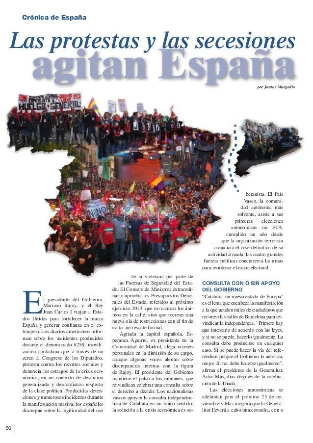 Protestas y secesiones en España
