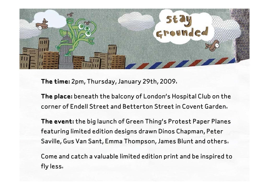 The time: 2pm, Thursday, January 29th, 2009.  The place: beneath the balcony of London's Hospital Club on the corner of En...