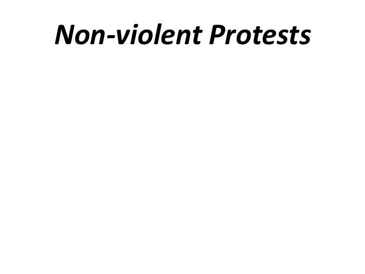 Non-violent Protests<br />