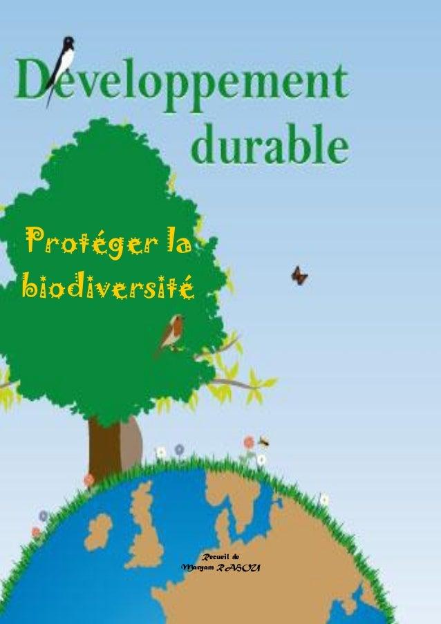 Doctissimo.fr Avril 2012 Page 1 sur 27 Protéger la biodiversité Recueil de Maryam RAHOU