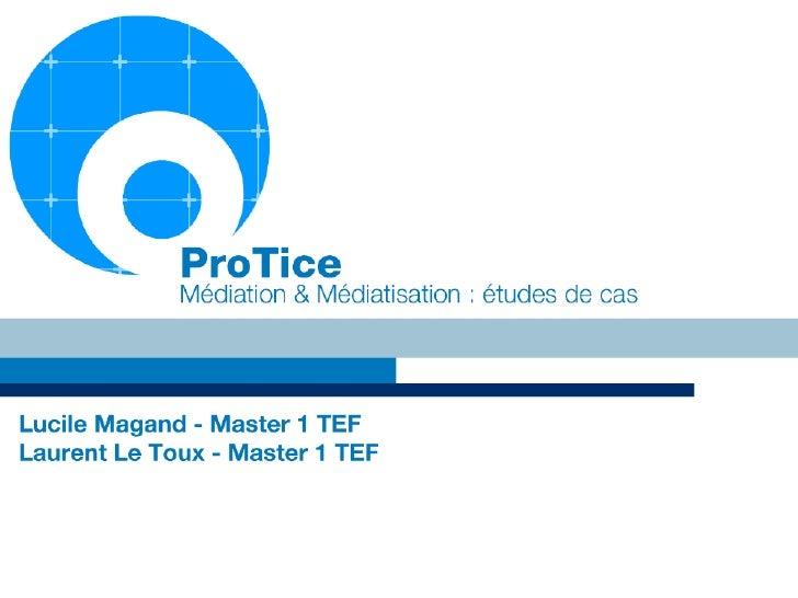 Protice - médiation-médiatisation - lucile magand & laurent le toux